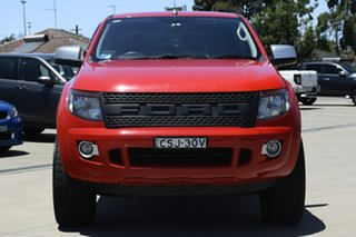 2014 Ford Ranger PX XLS 3.2 (4x4) Red 6 Speed Manual Double Cab Pick Up