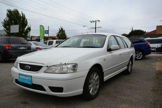 2005 Ford Falcon BF Futura White 4 Speed Auto Seq Sportshift Wagon.
