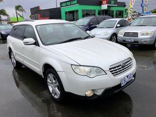 2008 Subaru Outback MY08 2.5I Luxury Edition White 5 Speed Manual Wagon.