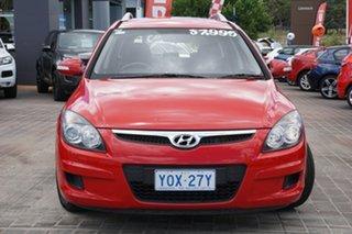 2011 Hyundai i30 FD MY11 SX cw Wagon Red 5 Speed Manual Wagon.