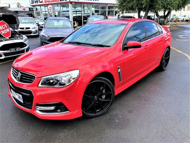 Used Holden Commodore VF MY15 SS V Redline Seaford, 2015 Holden Commodore VF MY15 SS V Redline Red 6 Speed Sports Automatic Sedan
