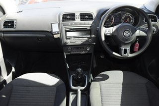 2013 Volkswagen Polo 6R MY14 77 TSI Comfortline White 6 Speed Manual Hatchback