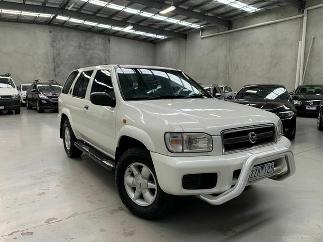 Used Nissan Pathfinder WX II MY2002 ST Plus Coburg North, 2002 Nissan Pathfinder WX II MY2002 ST Plus White 4 Speed Automatic Wagon