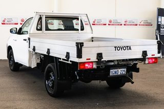 2018 Toyota Hilux TGN121R MY17 Workmate Glacier White 5 Speed Manual Cab Chassis.