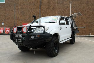 2011 Toyota Hilux KUN26R MY11 Upgrade SR (4x4) White 5 Speed Manual Dual Cab Pick-up