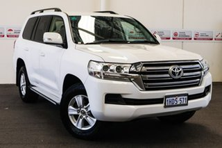 2017 Toyota Landcruiser VDJ200R GXL Glacier White 6 Speed Sports Automatic Wagon.