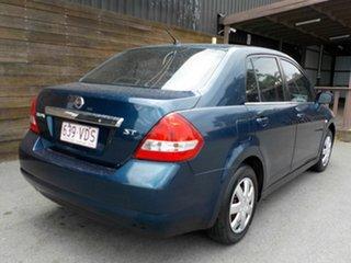 2009 Nissan Tiida C11 MY07 ST Blue 6 Speed Manual Sedan.
