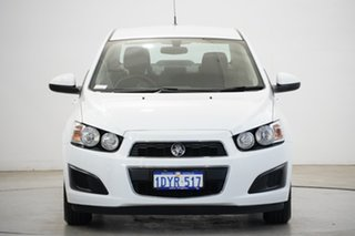 2012 Holden Barina TM MY13 CD White 5 Speed Manual Sedan.