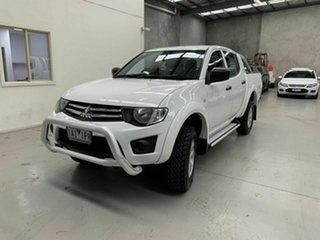 2013 Mitsubishi Triton MN MY13 GL-R Double Cab White 4 Speed Sports Automatic Utility.