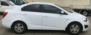 2012 Holden Barina TM White 6 Speed Automatic Sedan.
