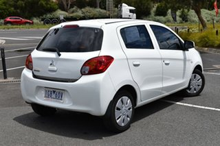 2015 Mitsubishi Mirage LA MY15 ES White 1 Speed Constant Variable Hatchback