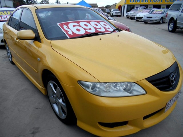 Used Mazda 6 GG1031 Luxury Sports Springwood, 2002 Mazda 6 GG1031 Luxury Sports Yellow 4 Speed Sports Automatic Hatchback