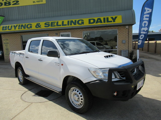 Used Toyota Hilux KUN26R SR Mandurah, 2014 Toyota Hilux KUN26R SR White 5 Speed Automatic Dual Cab