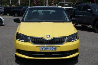 2016 Skoda Fabia NJ MY16 66TSI Sprint Yellow 5 Speed Manual Hatchback.