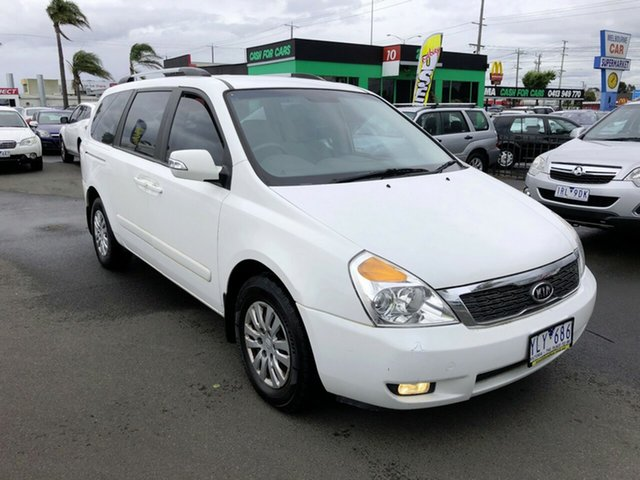 Used Kia Grand Carnival VQ MY11 SI Cheltenham, 2011 Kia Grand Carnival VQ MY11 SI White 6 Speed Automatic Wagon