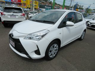 2018 Toyota Yaris NCP130R Ascent White 4 Speed Automatic Hatchback.