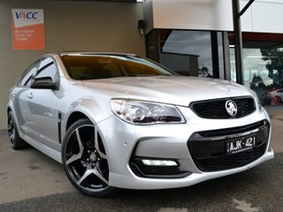 2016 Holden Commodore VF II MY16 SV6 Black Silver 6 Speed Sports Automatic Sedan.