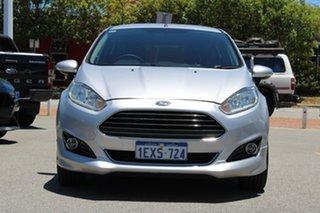 2015 Ford Fiesta WZ MY15 Sport Silver 5 Speed Manual Hatchback.