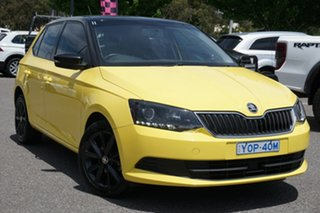 2016 Skoda Fabia NJ MY16 66TSI Sprint Yellow 5 Speed Manual Hatchback.