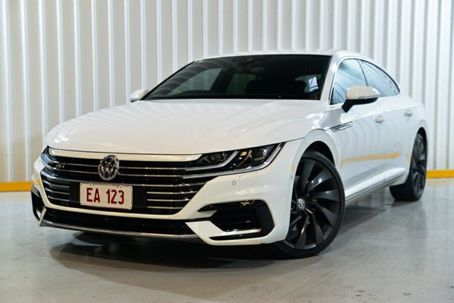 Used Volkswagen Arteon 3H MY18 206TSI Sedan DSG 4MOTION R-Line Hendra, 2017 Volkswagen Arteon 3H MY18 206TSI Sedan DSG 4MOTION R-Line White 7 Speed