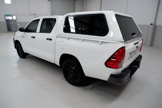 2018 Toyota Hilux TGN121R Workmate Double Cab 4x2 White 6 Speed Sports Automatic Utility