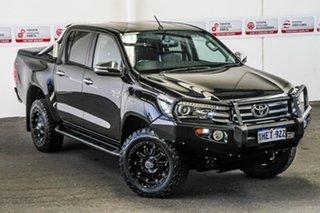 2016 Toyota Hilux GUN126R SR5 (4x4) Eclipse Black 6 Speed Automatic Dual Cab Utility.