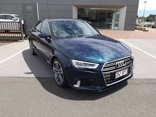 2018 Audi A3 8V MY18 S Line S Tronic Quattro Limited Edition Blue 7 Speed.