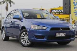 2009 Mitsubishi Lancer CJ MY10 RX Sportback Lightning Blue 5 Speed Manual Hatchback.