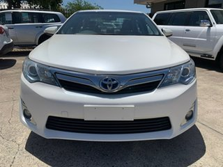 2013 Toyota Camry AVV50R Hybrid HL White 1 Speed Constant Variable Sedan Hybrid