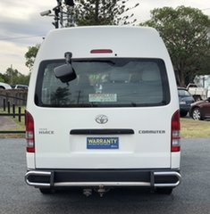 2008 Toyota HiAce KDH223R MY08 Commuter High Roof Super LWB White 5 Speed Manual Bus