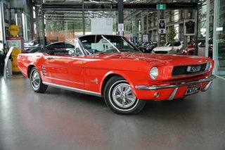 1966 Ford Mustang Red 3 Speed Automatic Convertible.