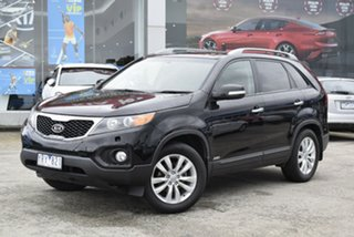 2010 Kia Sorento XM MY10 Platinum Black 6 Speed Sports Automatic Wagon.