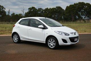 2013 Mazda 2 DE MY13 Neo White 4 Speed Automatic Hatchback.