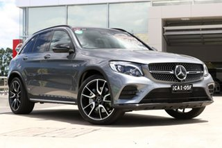 2017 Mercedes-Benz GLC-Class X253 GLC43 AMG 9G-Tronic 4MATIC Selenite Grey 9 Speed Sports Automatic.