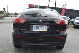 2009 Mitsubishi Lancer CJ MY09 ES Sportback Black/Grey 6 Speed Constant Variable Hatchback
