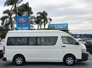 2008 Toyota HiAce KDH223R MY08 Commuter High Roof Super LWB White 5 Speed Manual Bus.