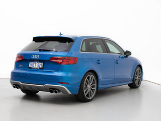 2017 Audi S3 8V MY18 2.0 TFSI Quattro Blue 7 Speed Auto S-Tronic Sedan