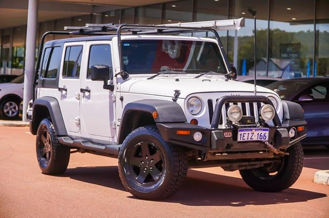 Used Jeep Wrangler JK MY2013 Unlimited Sport Gosnells, 2013 Jeep Wrangler JK MY2013 Unlimited Sport White 6 Speed Manual Softtop