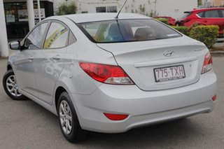 2012 Hyundai Accent RB Active Silver 4 Speed Sports Automatic Sedan.