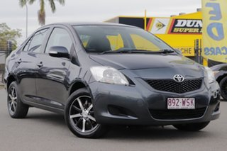 2008 Toyota Yaris NCP93R YRS Graphite 4 Speed Automatic Sedan.