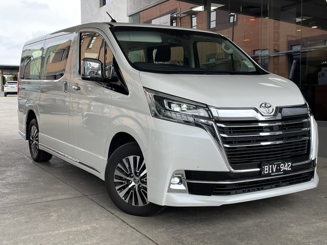 Pre-Owned Toyota Granvia GDH303R Preston, 2019 Toyota Granvia GDH303R Crystal Pearl 6 Speed Sports Automatic Wagon