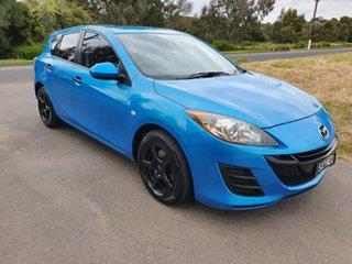 2011 Mazda 3 BL Series 1 Neo Blue Manual Hatchback.