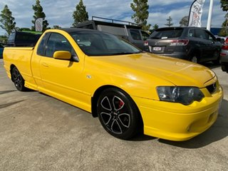 2005 Ford Falcon BA Mk II XR6 Ute Super Cab Yellow 4 Speed Sports Automatic Utility.