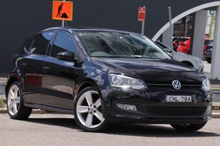 2013 Volkswagen Polo 6R MY13.5 77TSI Comfortline Black 6 Speed Manual Hatchback.