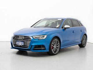 2017 Audi S3 8V MY18 2.0 TFSI Quattro Blue 7 Speed Auto S-Tronic Sedan.