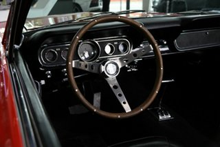 1966 Ford Mustang Red 3 Speed Automatic Convertible