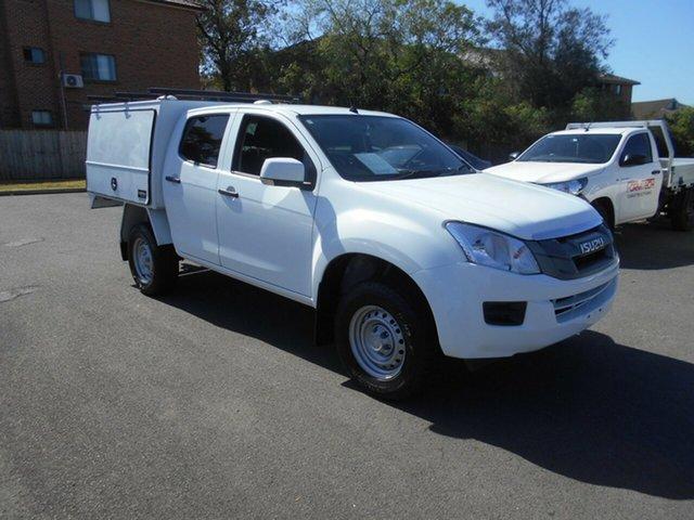 Used Isuzu D-MAX TF MY15 SX HI-Ride (4x2) Bankstown, 2015 Isuzu D-MAX TF MY15 SX HI-Ride (4x2) White 5 Speed Automatic Crew Cab Utility