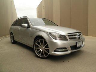 2012 Mercedes-Benz C-Class W204 MY12 C200 BlueEFFICIENCY Estate 7G-Tronic + Elegance Iridium Silver.