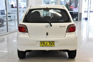 2001 Toyota Echo NCP10R White 4 Speed Automatic Hatchback