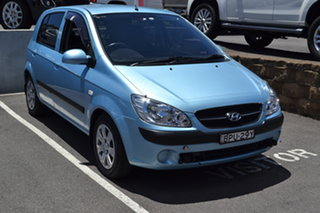 2010 Hyundai Getz TB MY09 SX Blue 5 Speed Manual Hatchback.